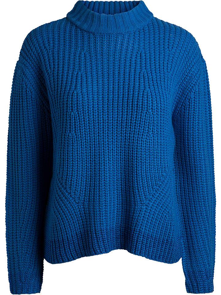 Pieces Pullover in Blau