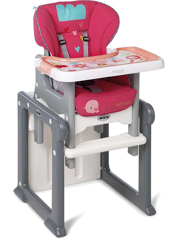 """Jané Krzesełko """"Aciva Evo"""" w kolorze różowym do karmienia - 58 x 10 x 53 cm"""
