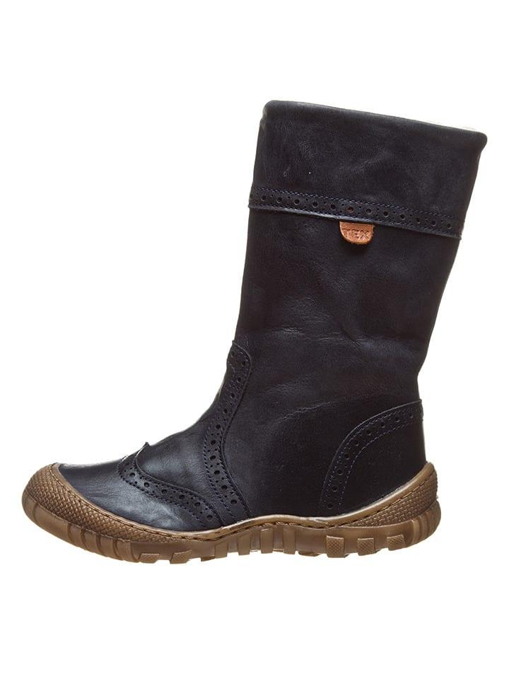 BO-BELL Leder-Stiefel in Dunkelblau