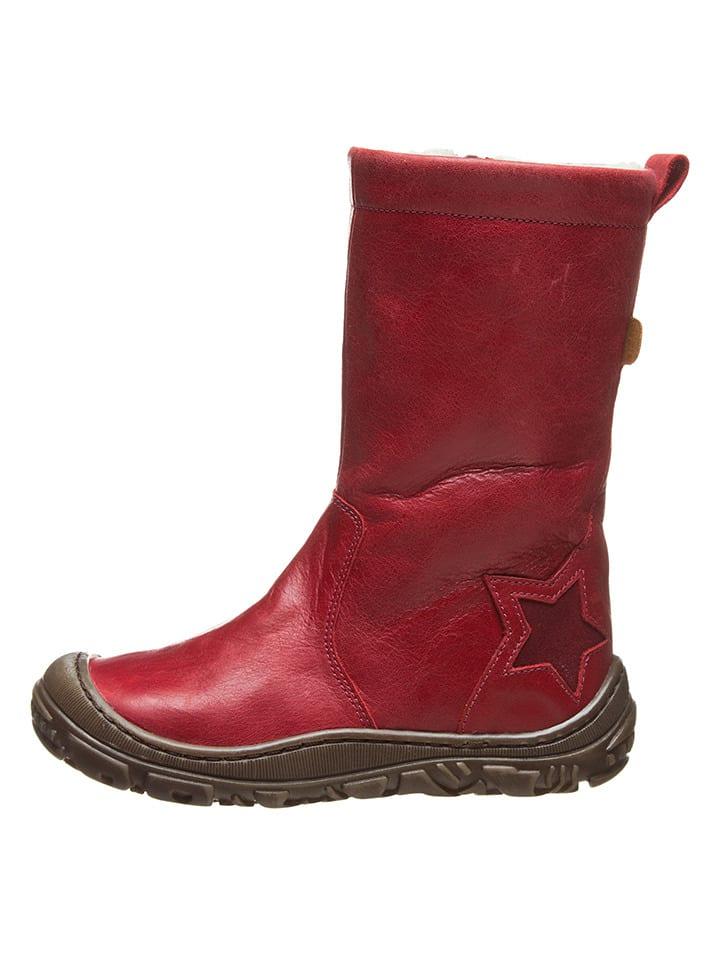 BO-BELL Leder-Stiefel in Rot