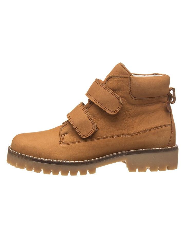BO-BELL Leder-Boots in Hellbraun