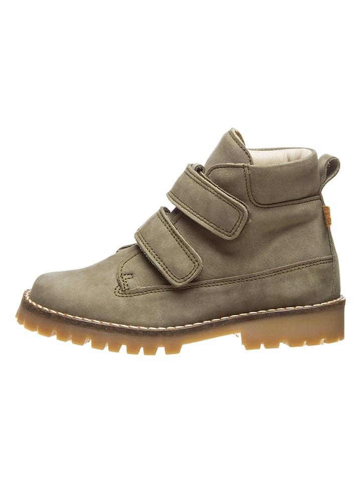 BO-BELL Leder-Boots in Beige/ Grau