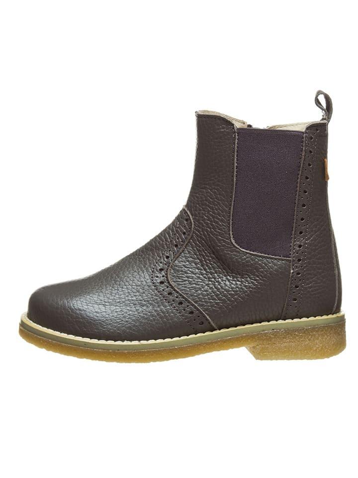 BO-BELL Leder-Chelsea-Boots in Grau