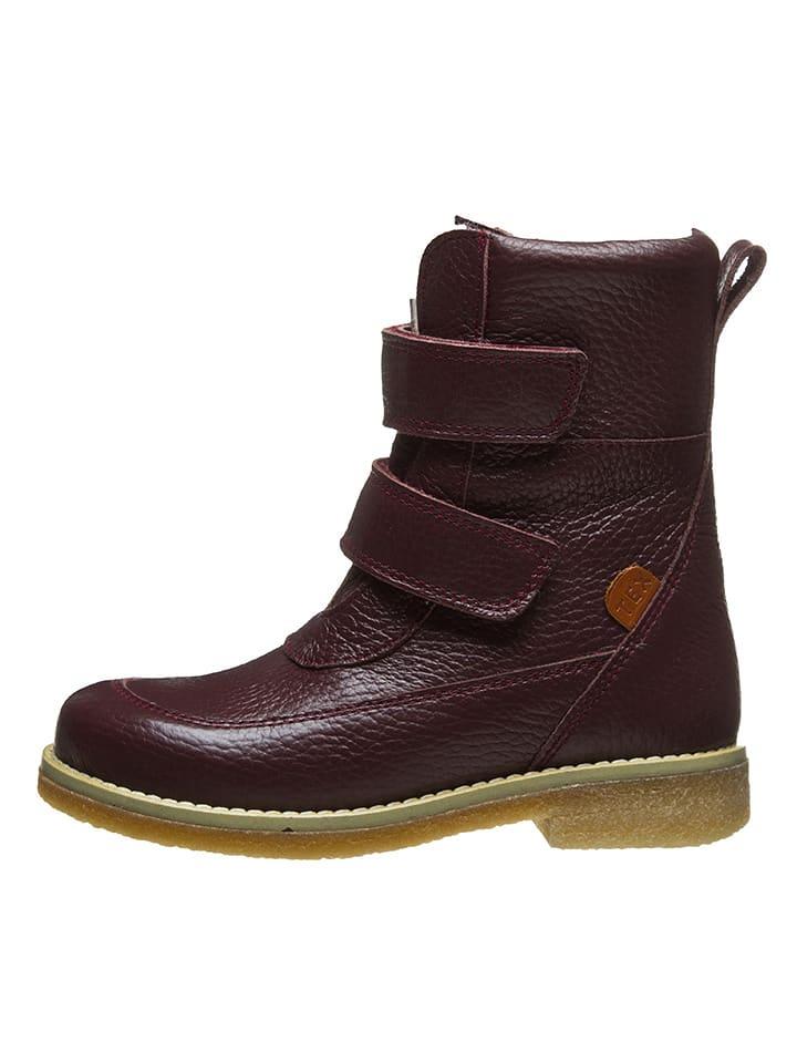 BO-BELL Leder-Boots in Rot