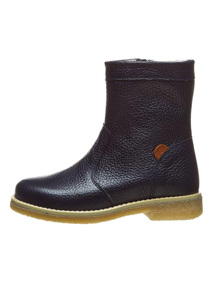 BO-BELL Leder-Boots in Dunkelblau