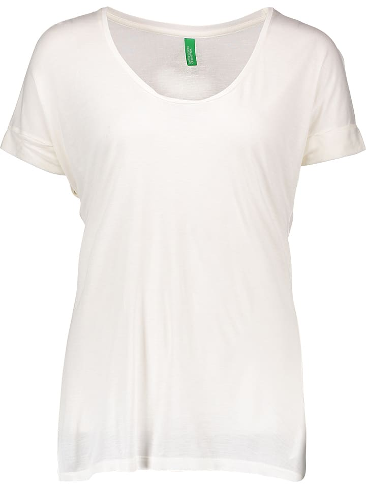 Benetton Koszulka w kolorze białym
