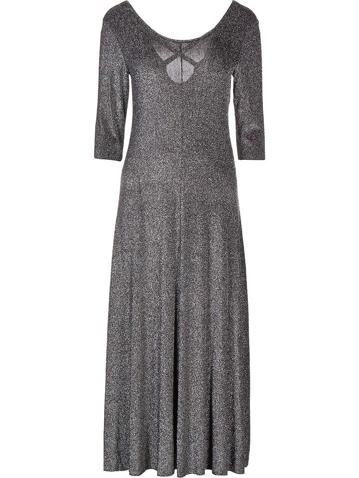 Benetton Sukienka w kolorze antracytowo-srebrnym