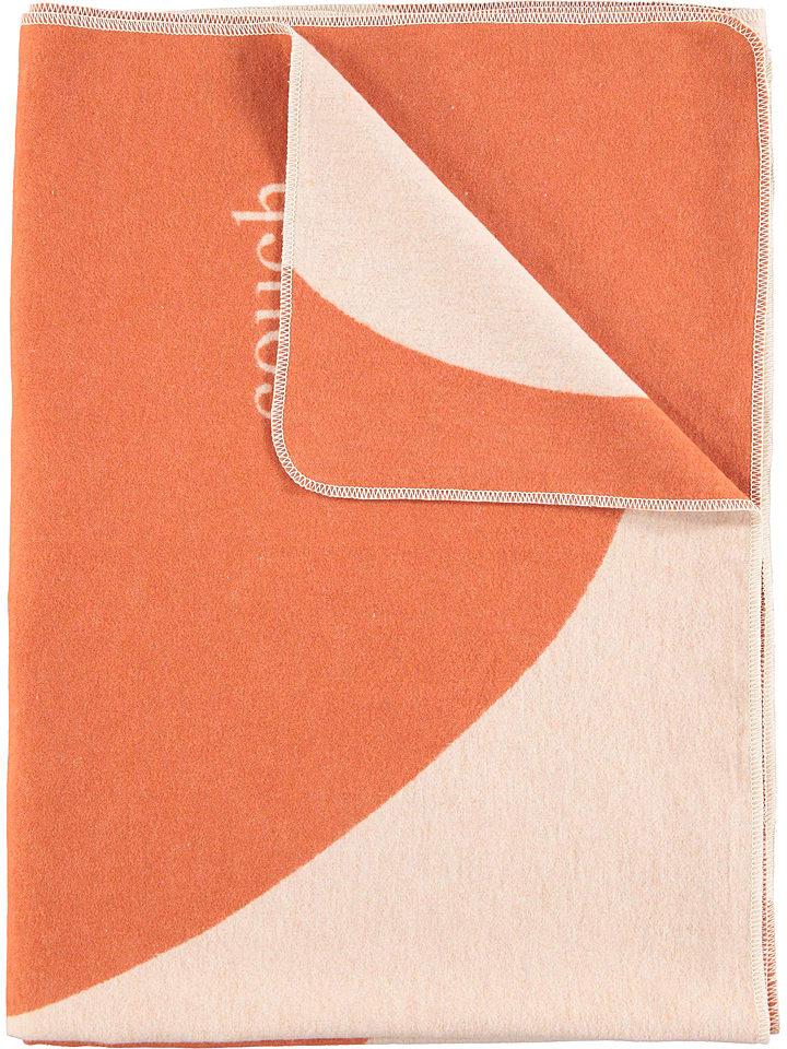 Fussenegger Koc w kolorze pomarańczowo-kremowym