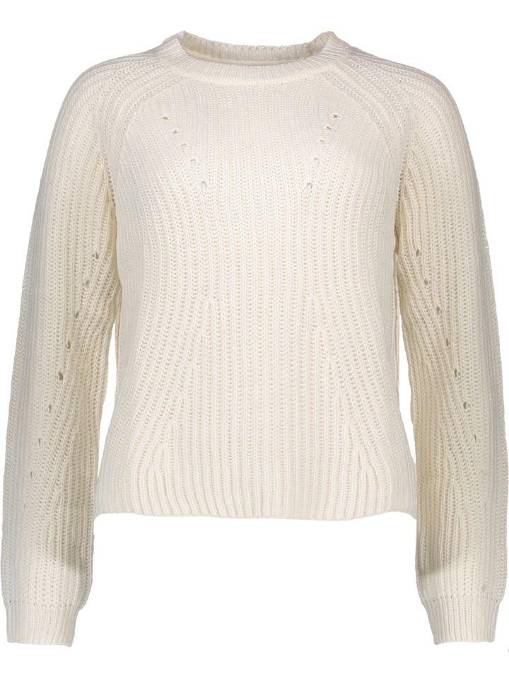 Vero Moda Sweter w kolorze kremowym