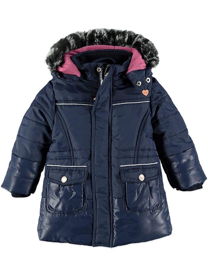 Babyface Winterjas donkerblauw/lichtroze
