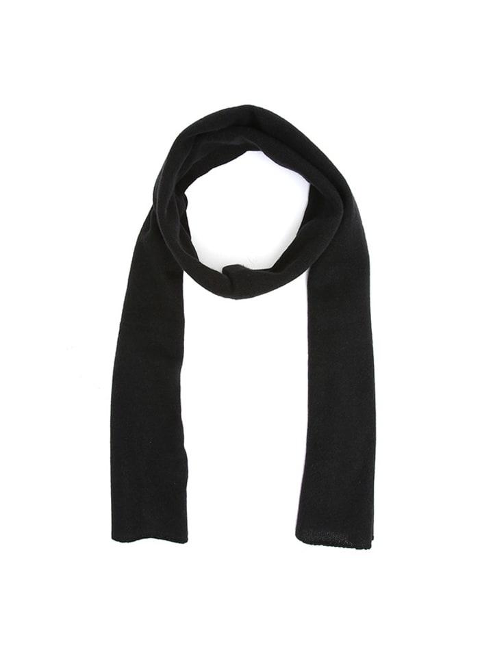 FLORA FEDI Szal w kolorze czarnym - (D)160 x (S)30 cm