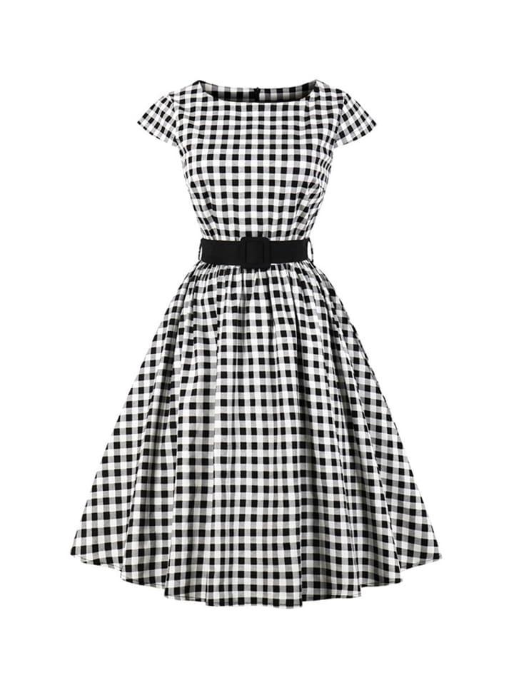 Mixinni Sukienka w kolorze biało-czarno-szarym ze wzorem