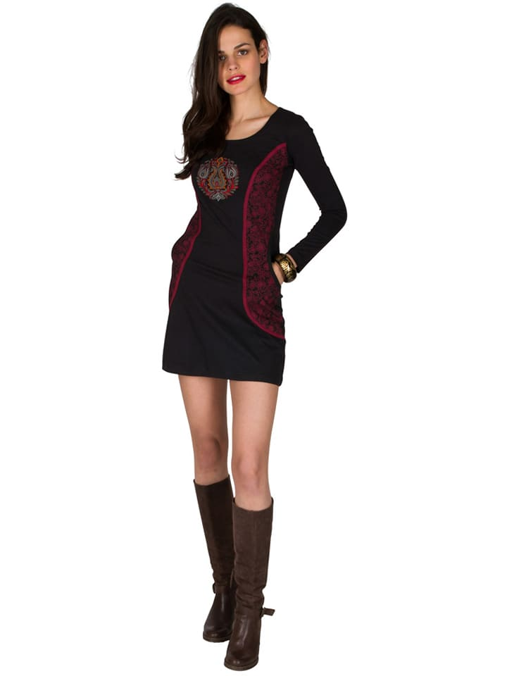Aller Simplement Sukienka w kolorze czarno-czerwonym