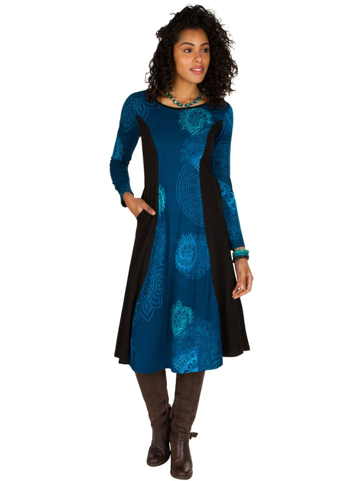 Aller Simplement - Kleid in Schwarz/ Blau | limango Outlet
