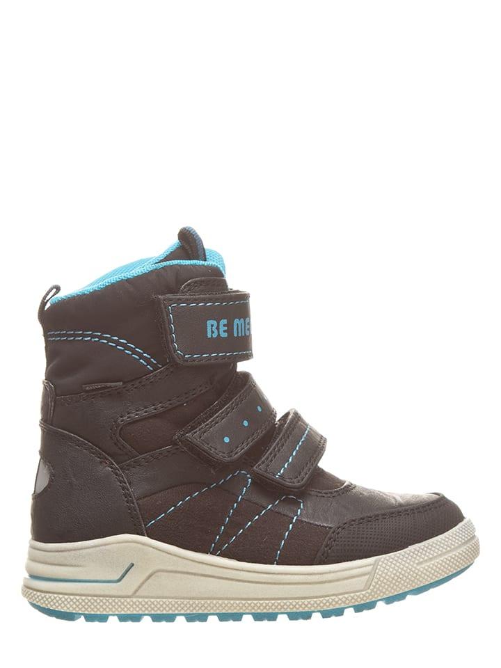 BeMega Boots in Schwarz/ Hellblau