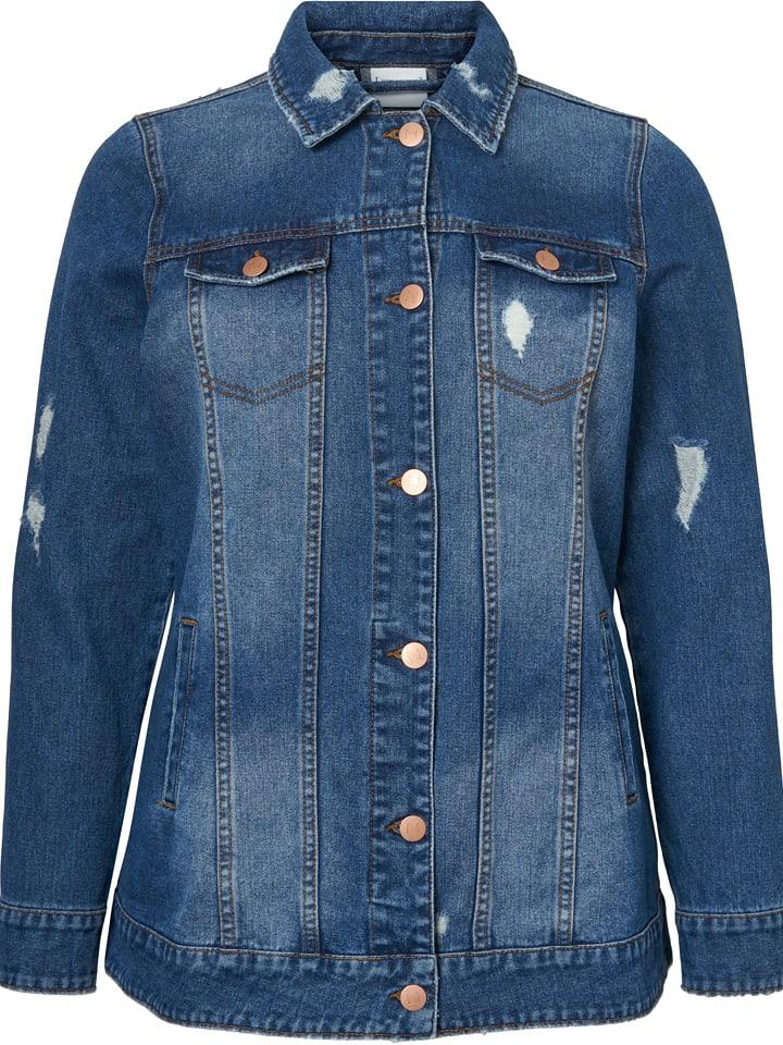JUNAROSE Dżinsowa kurtka w kolorze niebieskim