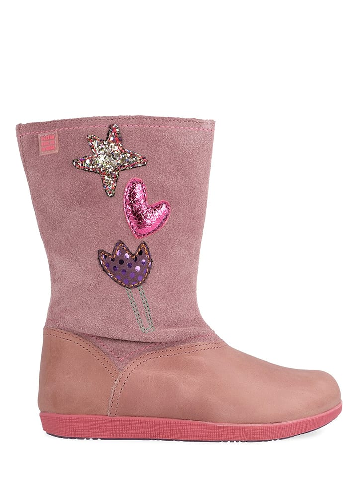 Agatha Ruiz de la Prada Leder-Boots in Rosa