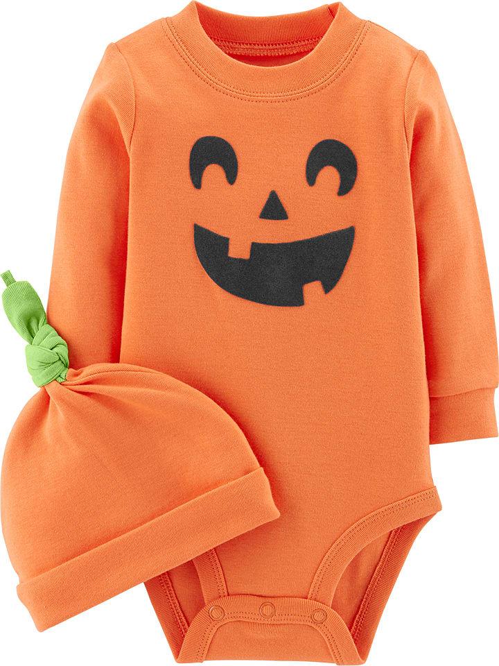 "Carter's 2-delige outfit ""Pompoen"" oranje"