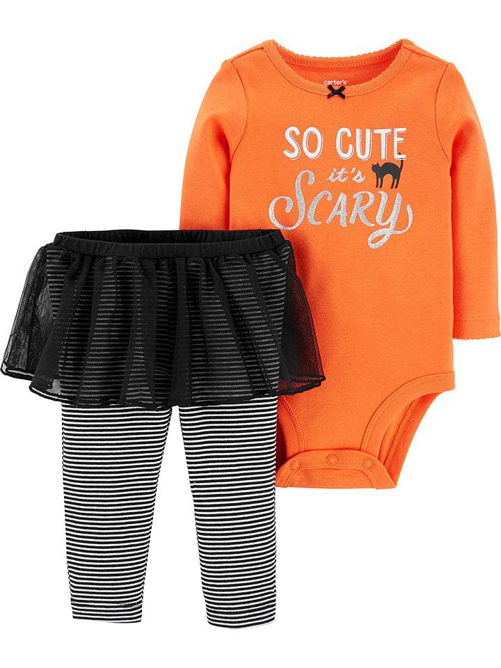 """Carter's 2-częściowy zestaw """"Halloween"""" w kolorze pomarańczowym"""