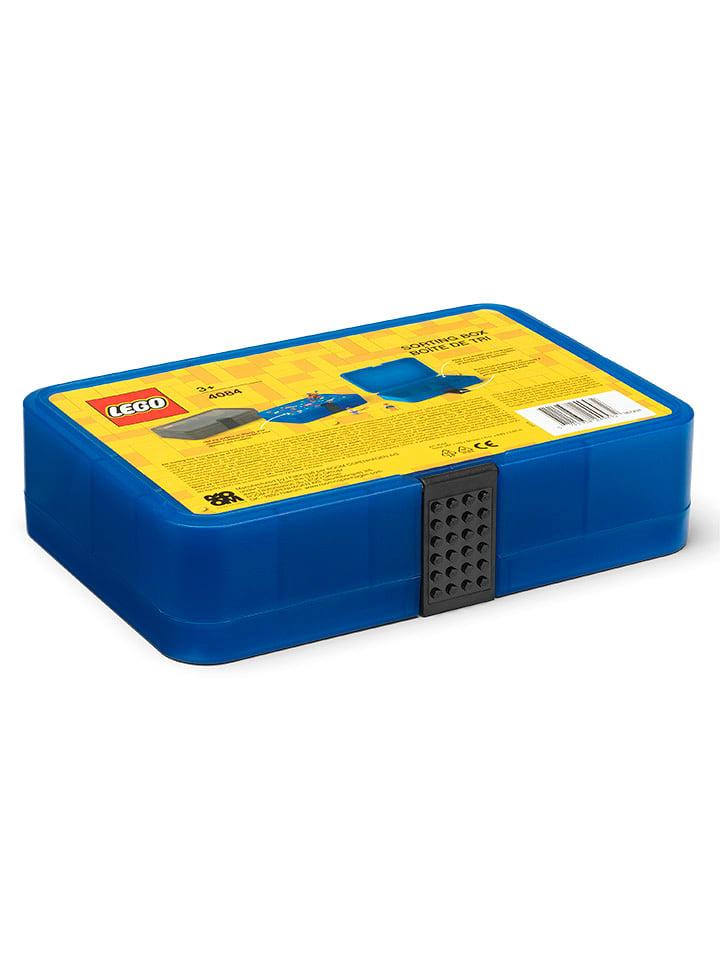 """LEGO Walizka """"Iconic"""" w kolorze niebieskim z przegrodami - 26,7 x 6,6 x 17,8 cm"""