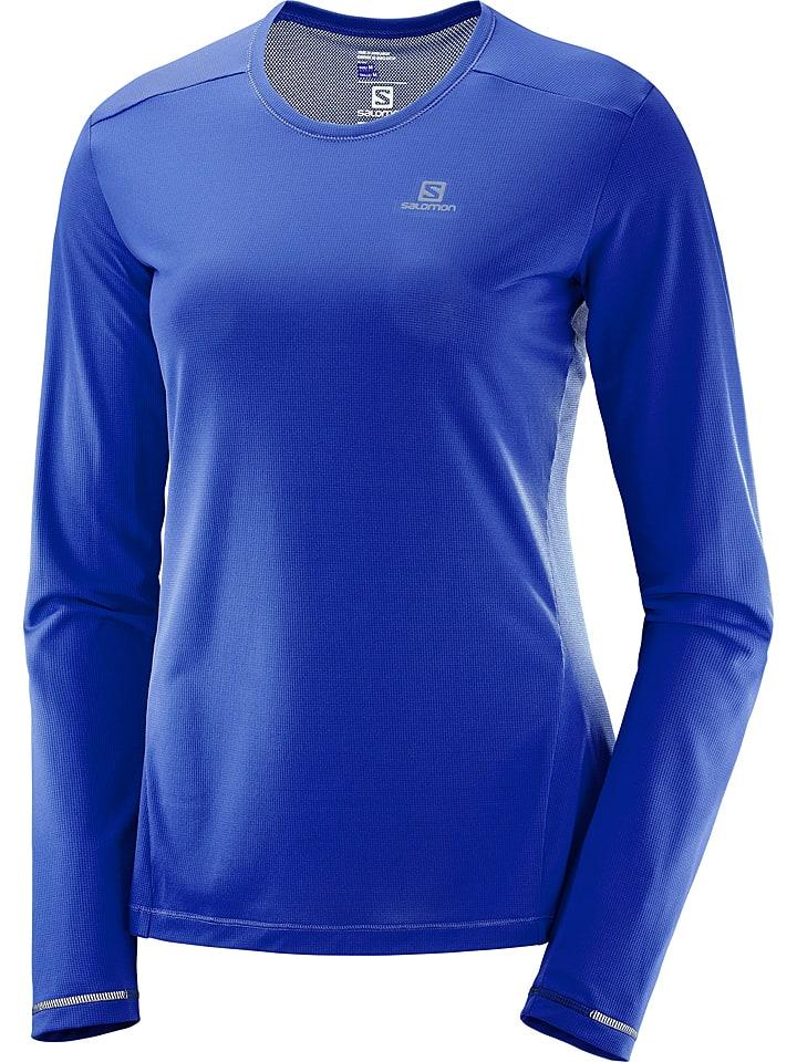 """SALOMON T-shirt fonctionnel manches longues """"Agile"""" - bleu"""