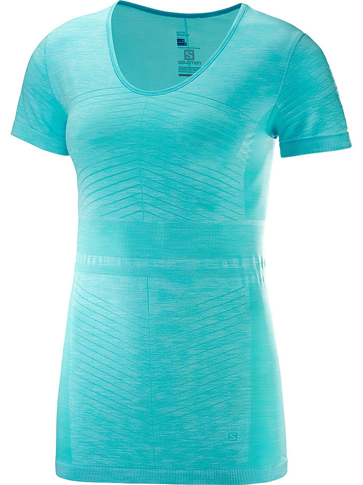"SALOMON T-shirt fonctionnel ""Elivate Move On"" - turquoise"