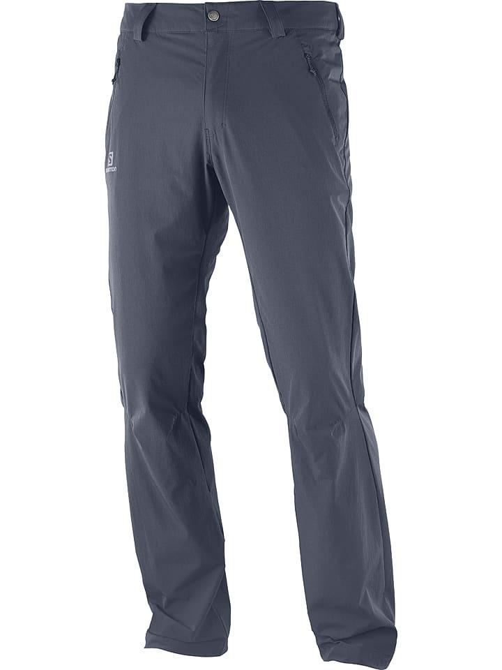 """SALOMON Spodnie funkcyjne """"Wayfarer"""" w kolorze antracytowym"""
