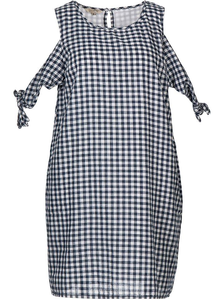 """Herrlicher Sukienka """"Sinja"""" w kolorze granatowo-białym"""