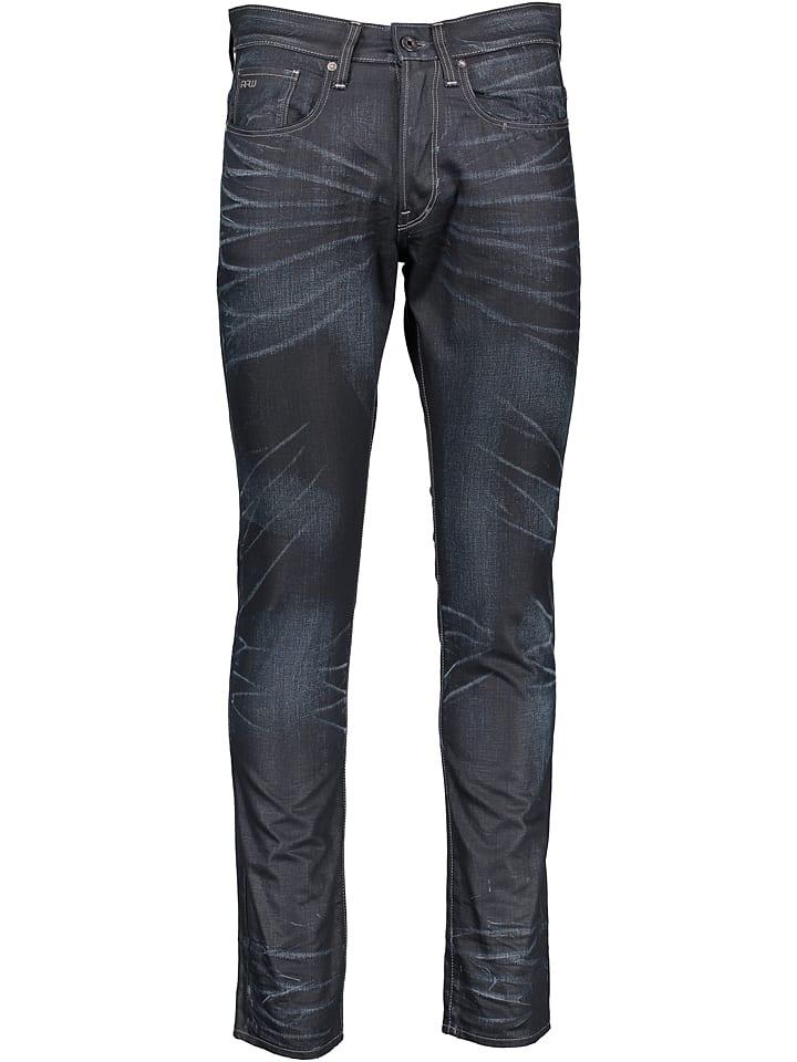 """G-Star Dżinsy """"3301"""" - Tapered fit - w kolorze czarno-niebieskim"""