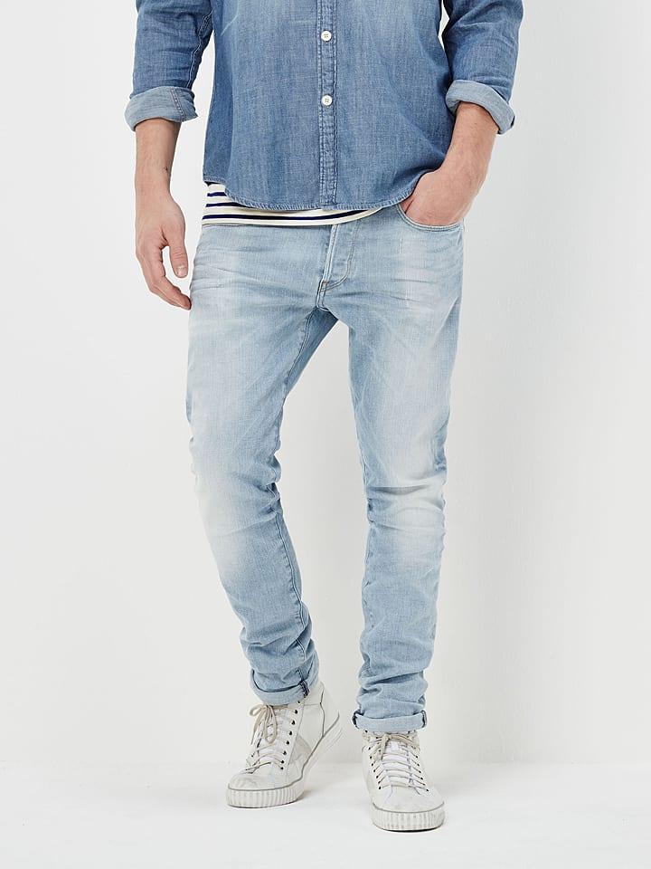 """G-Star Dżinsy """"3301"""" - Tapered fit - w kolorze błękitnym"""
