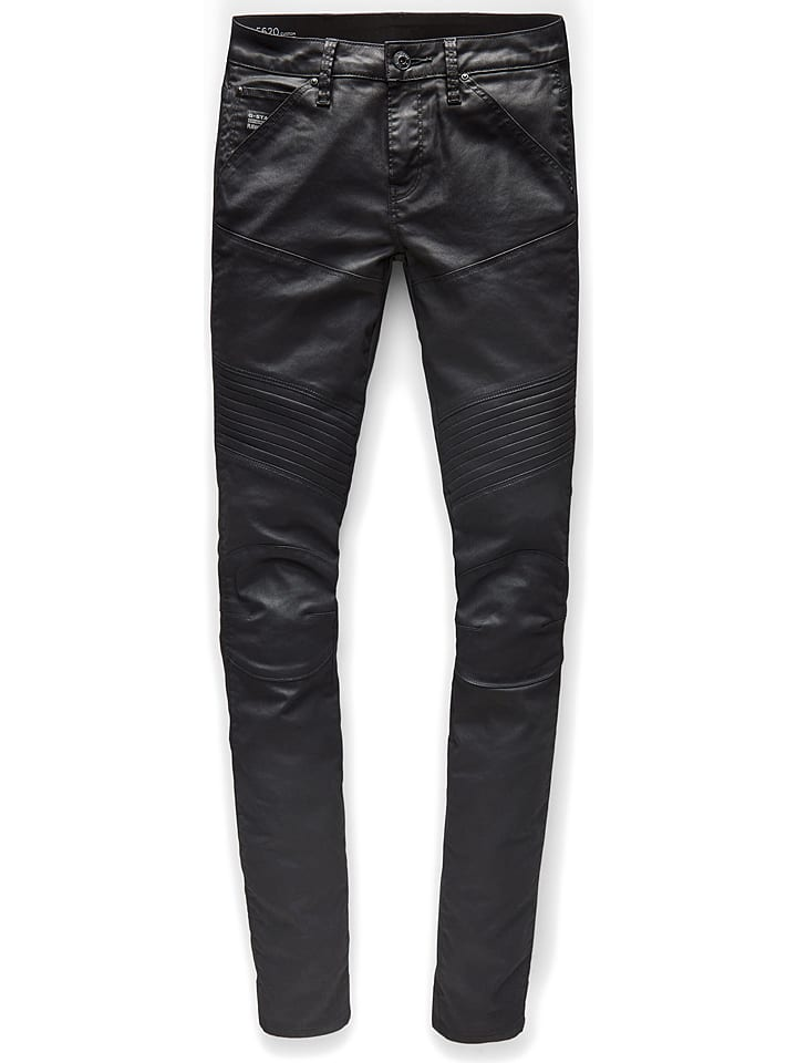 G-Star Dżinsy - Skinny fit - w kolorze czarnym
