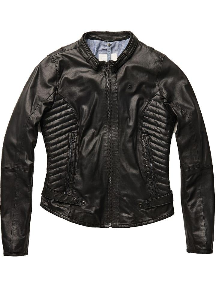 G-Star Skórzana kurtka w kolorze czarnym