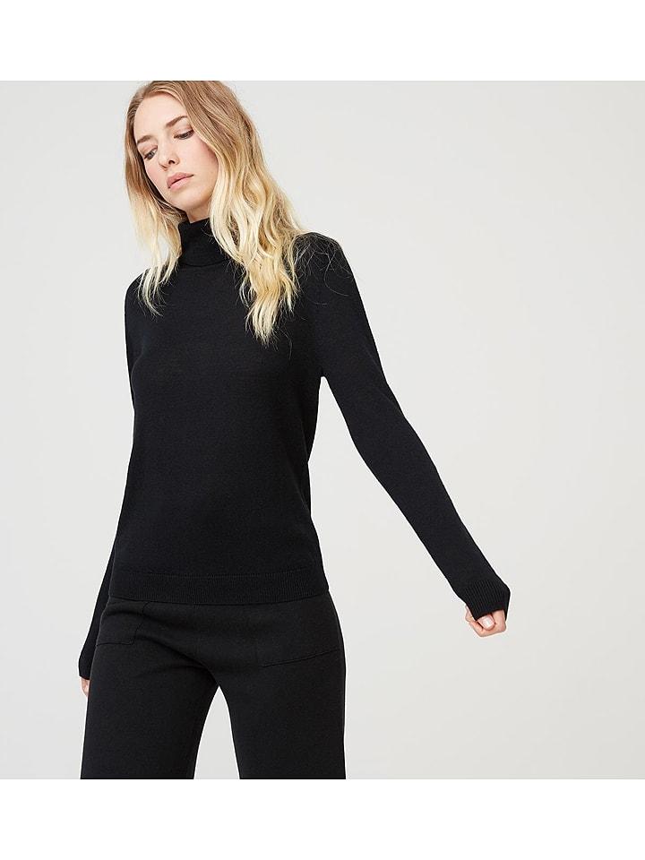 Rodier Wełniany sweter w kolorze czarnym
