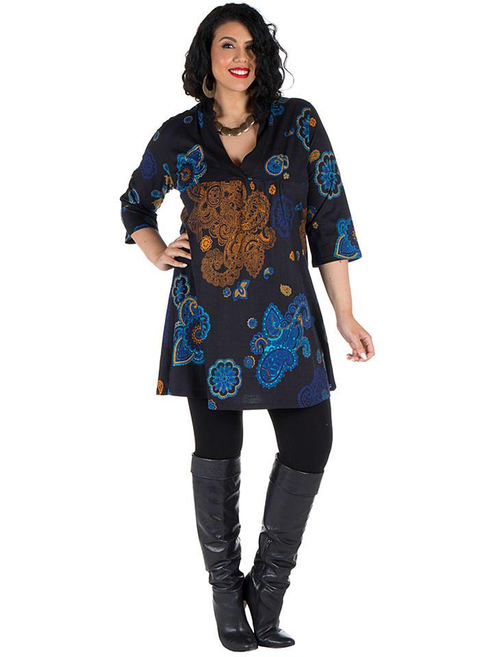 Aller Simplement - Kleid in Schwarz/ Blau/ Braun | limango ...