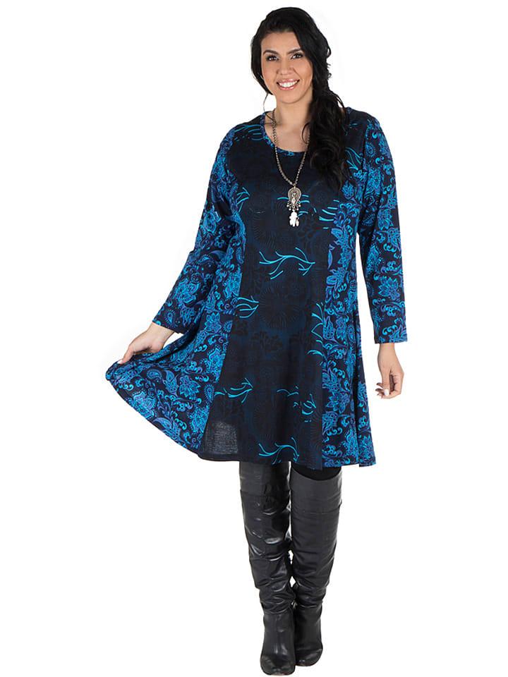 Aller Simplement Sukienka w kolorze czarno-niebieskim