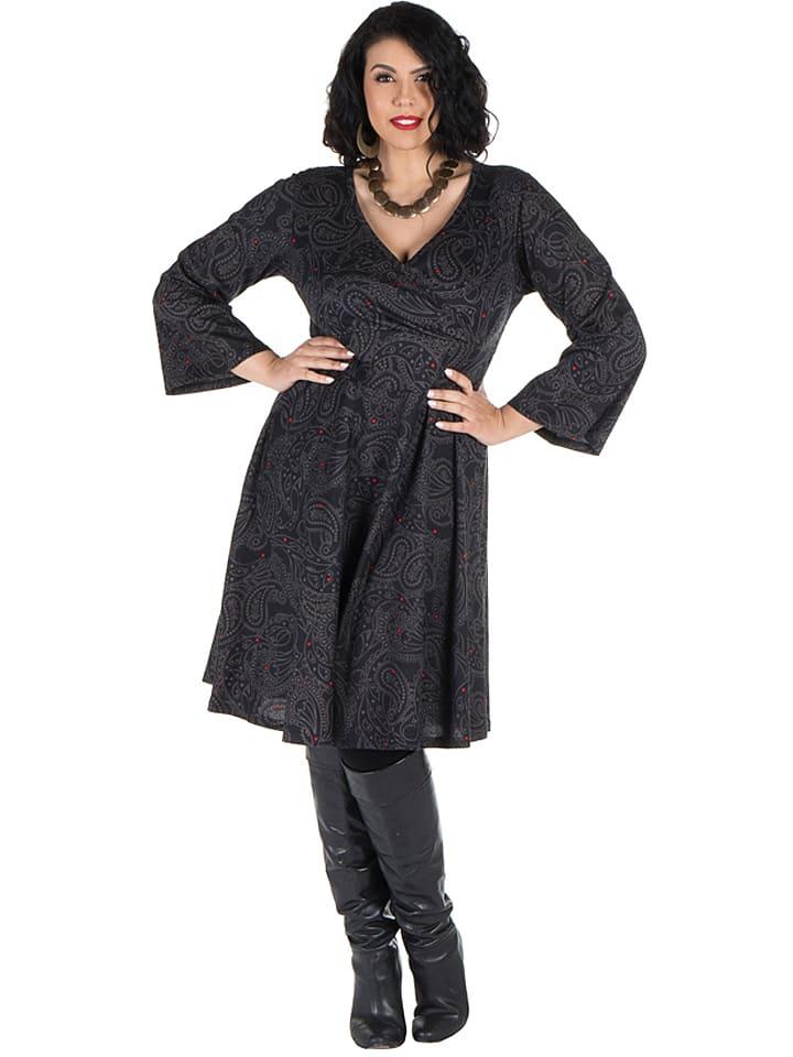 Aller Simplement Sukienka w kolorze czarno-szarym