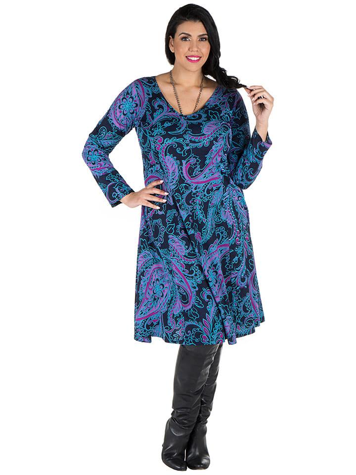Aller Simplement Kleid in Schwarz/ Blau