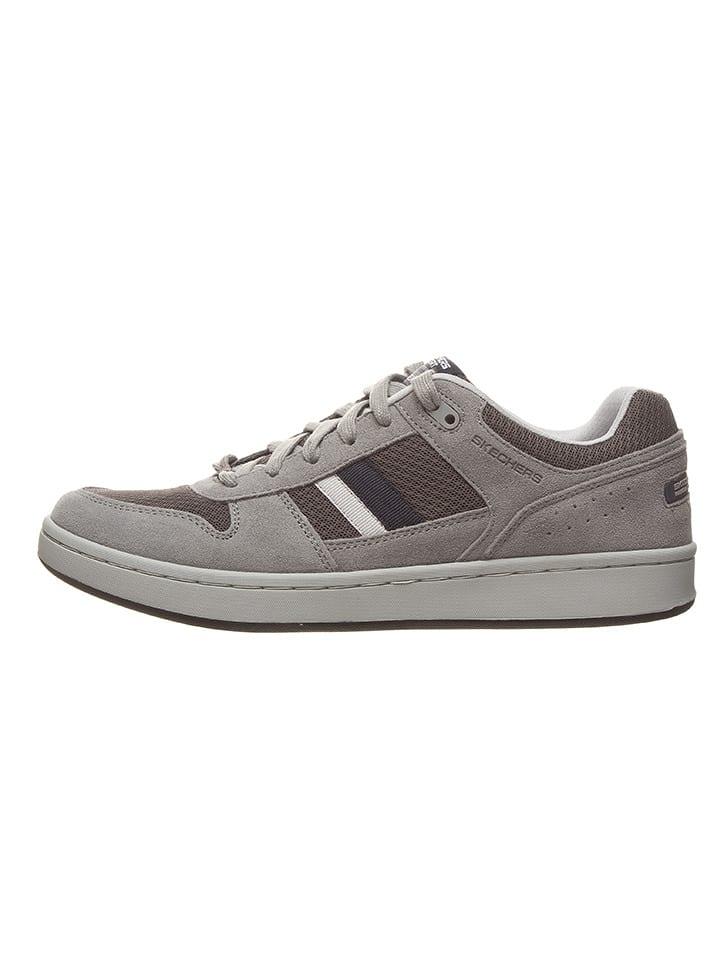 Skechers Skórzane sneakersy w kolorze szarym