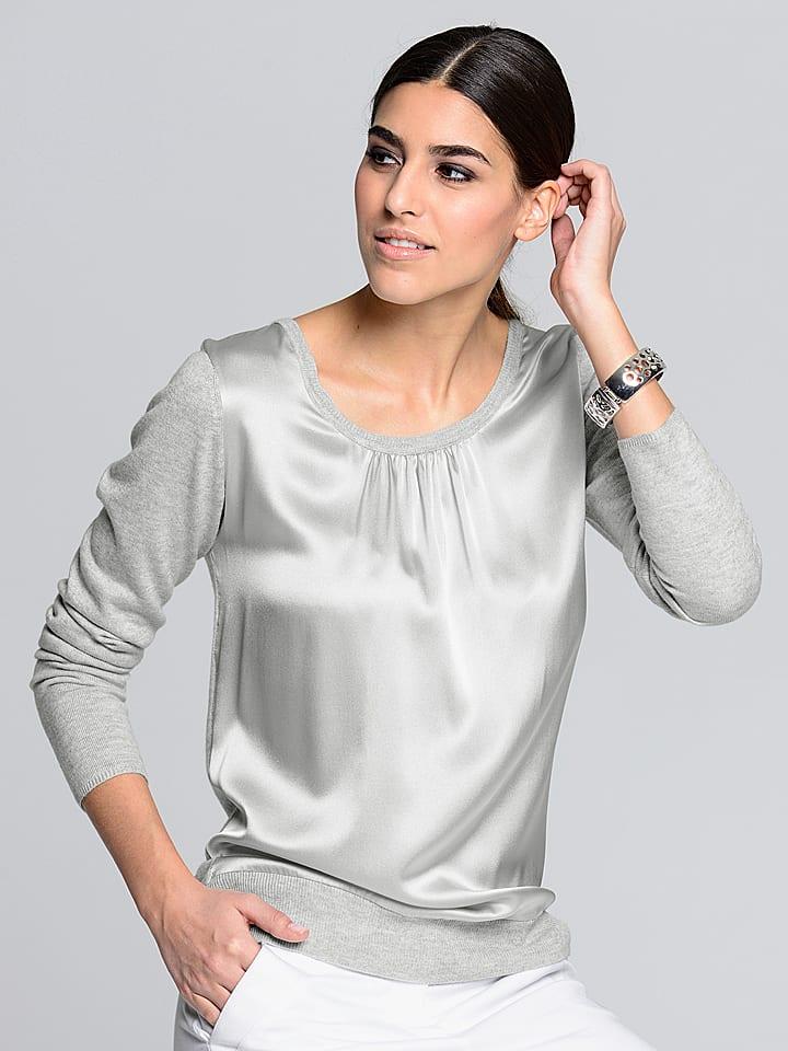 Alba Moda Sweter w kolorze srebrno-szarym