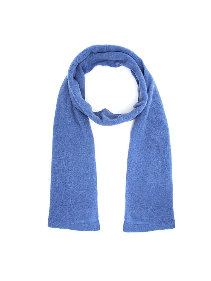 Cashmere95 Szal w kolorze niebieskofioletowym - (D)190 x (S)50 cm