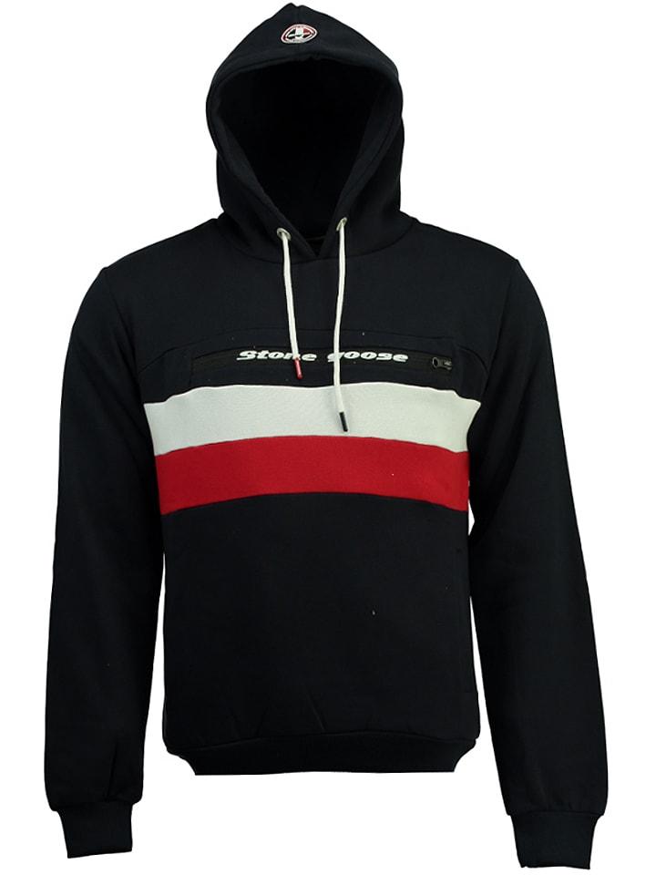 Stone Goose Kapuzenpullover Fario in Schwarz - 50%   Größe XL   Herren pullover sport