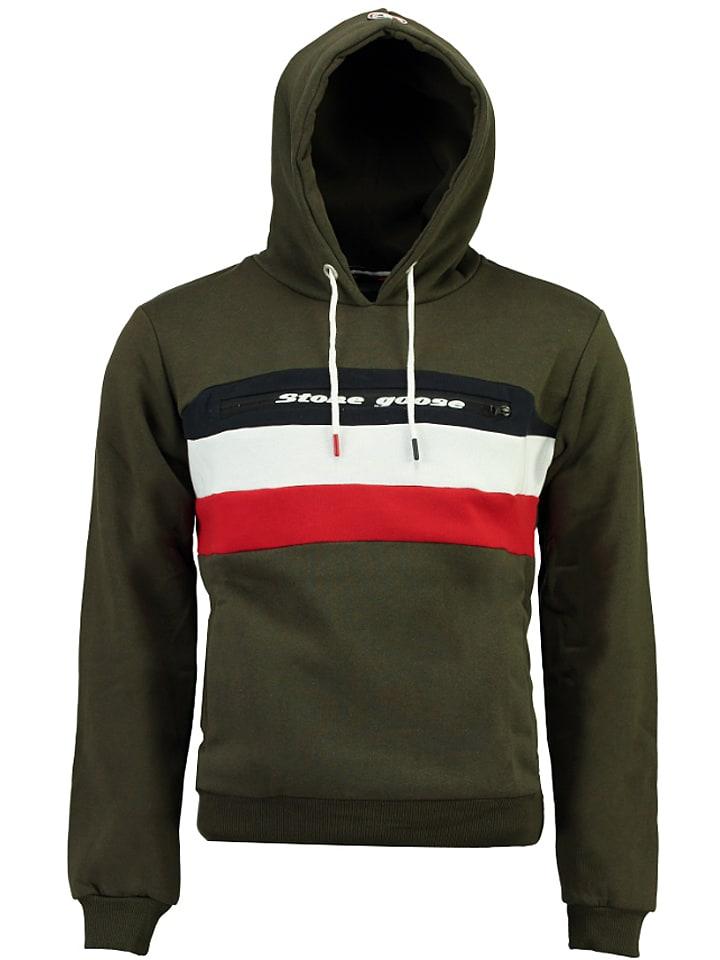 Stone Goose Sweatshirt Fario in Khaki - 54% | Größe S | Herren pullover sport