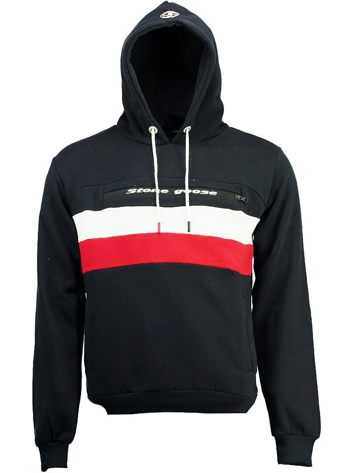 Stone Goose Sweatshirt Fario in Dunkelblau - 54% | Größe XL | Herren pullover sport