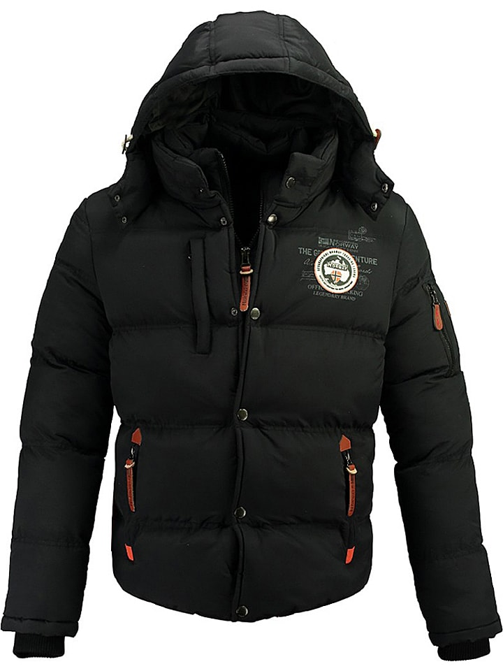 """Geographical Norway Winterjacke """"Verveine"""" in Schwarz"""