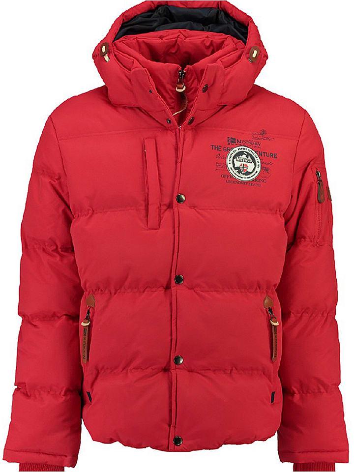 """Geographical Norway Kurtka zimowa """"Verveine"""" w kolorze czerwonym"""