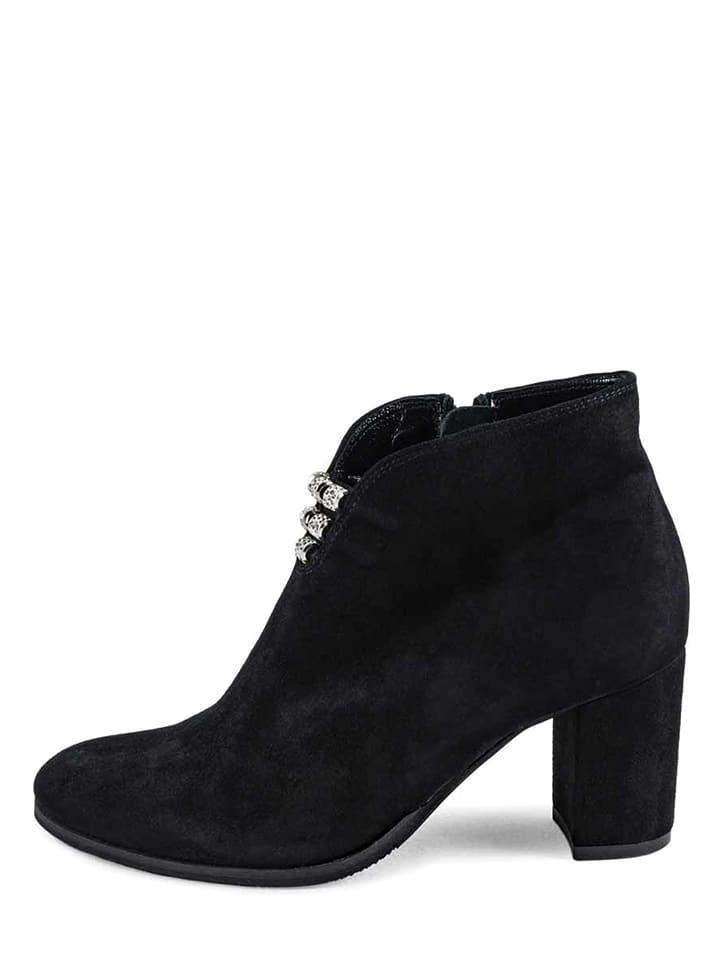 vanessa leder ankle boots in schwarz limango outlet. Black Bedroom Furniture Sets. Home Design Ideas