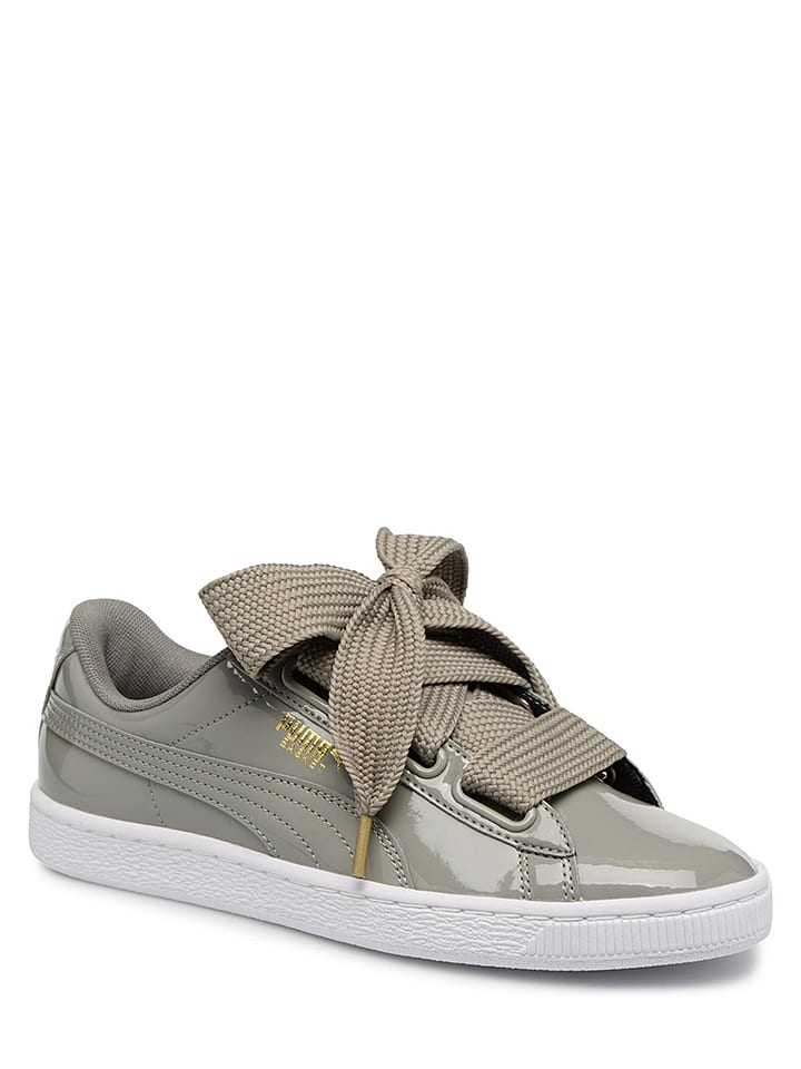 "Puma Shoes Baskets en cuir ""Heart"" - kaki"
