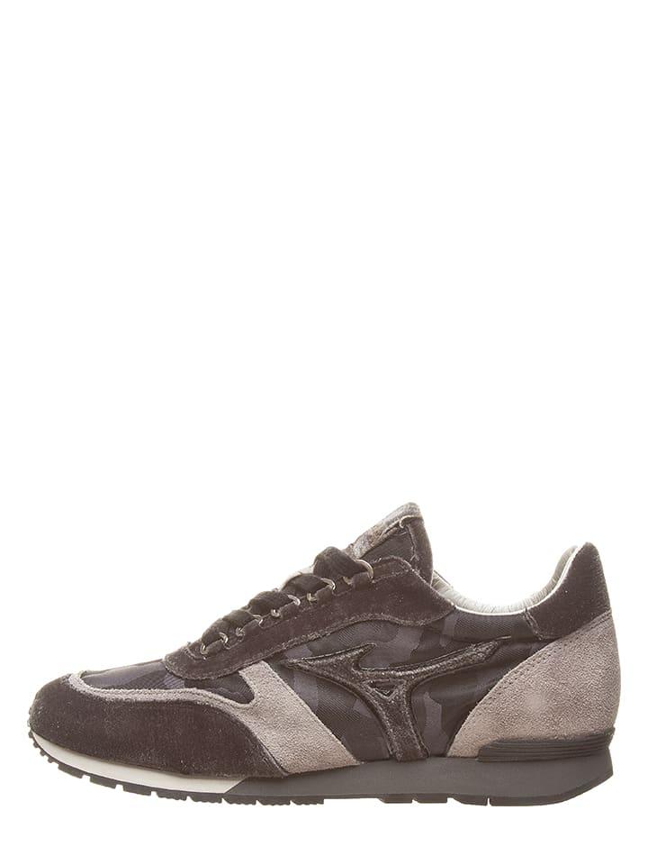 """Mizuno Skórzane sneakersy """"Naos"""" w kolorze antracytowo-szarym"""
