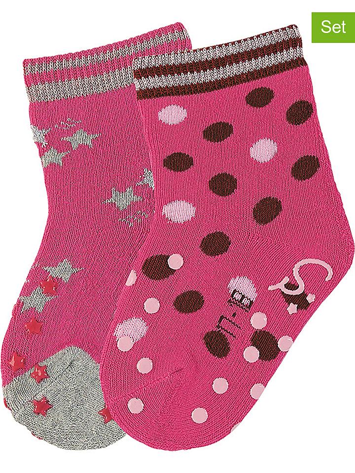 """Sterntaler 2er-Set: ABS-Socken """"Sterne"""" in Pink"""