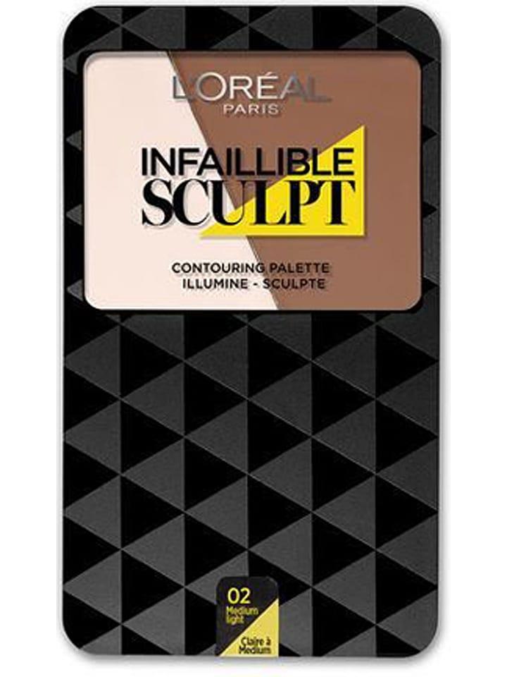 "L'Oréal Paris Paletka do konturowania ""Indefectible Sculpt - 03 Medium Dark"" - 10 g"